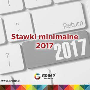 stawki minimalne na umowę zlecenie 2017