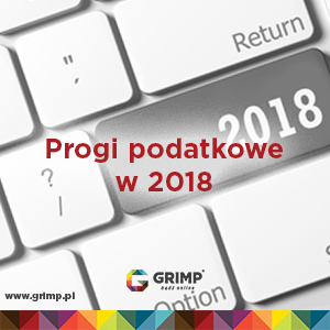 progi podatkowe 2018 rok