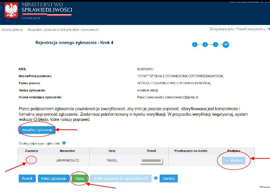 instrukcja składania e-sprawozdania za 2018 rok