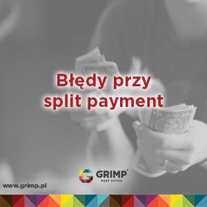 błędy przy split payment